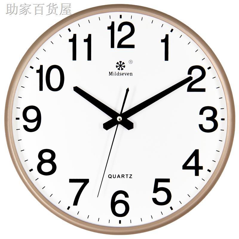♕☁✳鐘表掛鐘客廳時尚創意個性時鐘掛表簡約家用靜音電子石英鐘掛墻上