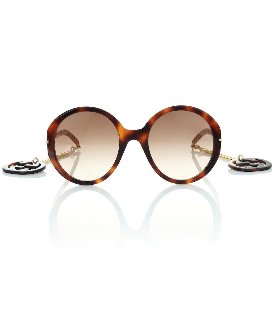 Round sunglasses with GG charms