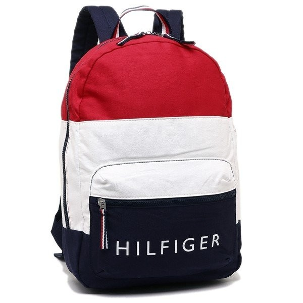 Tommy Hilfiger 輕量後背包 休閒包 帆布包 藍紅白經典色 旅行包 後背包 T89660 (現貨)