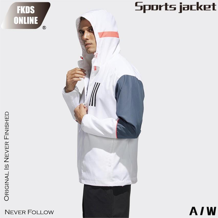 ADIDAS 愛迪達 W.N.D. WND 純白 風衣外套 防風外套 運動外套 休閒外套 連帽外套 外套 GF3998