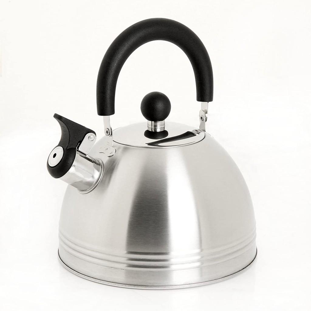 Mr. Coffee 91408.02 Carterton 1.5 Quart 不銹鋼茶壺 Whistl [9美國直購]
