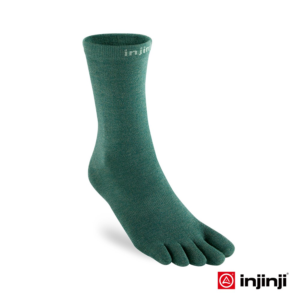 【injinji】LINER中筒內襪 [嫩綠] 五趾襪 長襪 登山 戶外 | INJB0NAA2535