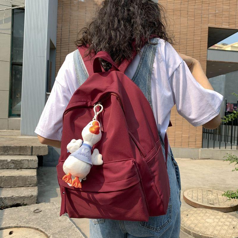 |現貨|開學季大新款|書包女學生韓版高中原宿初中生大學生卡通簡約帆布可愛雙肩包背包