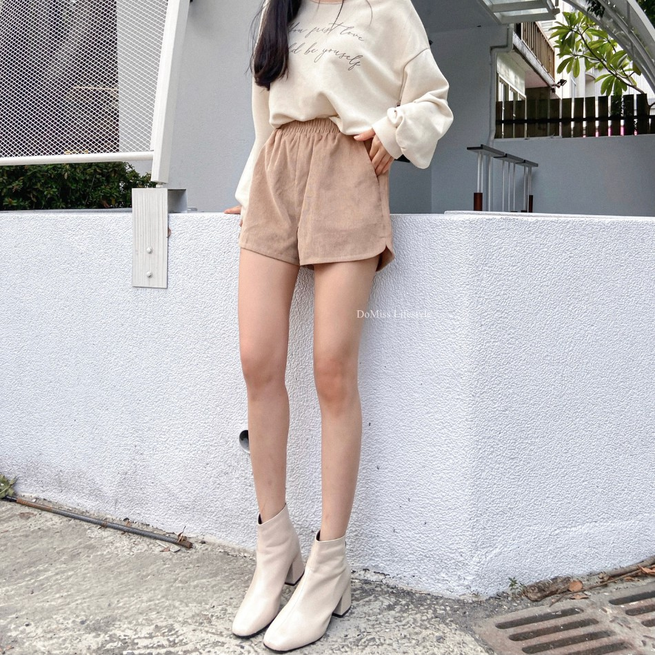 DoMiss韓國薄絨口袋短褲-3色(現貨)