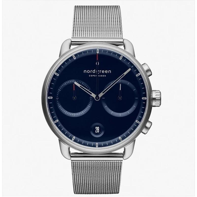 Nordgreen Pioneer | 北歐藍錶盤 - 月光銀42mm(PI42SIMESINA)原廠公司貨