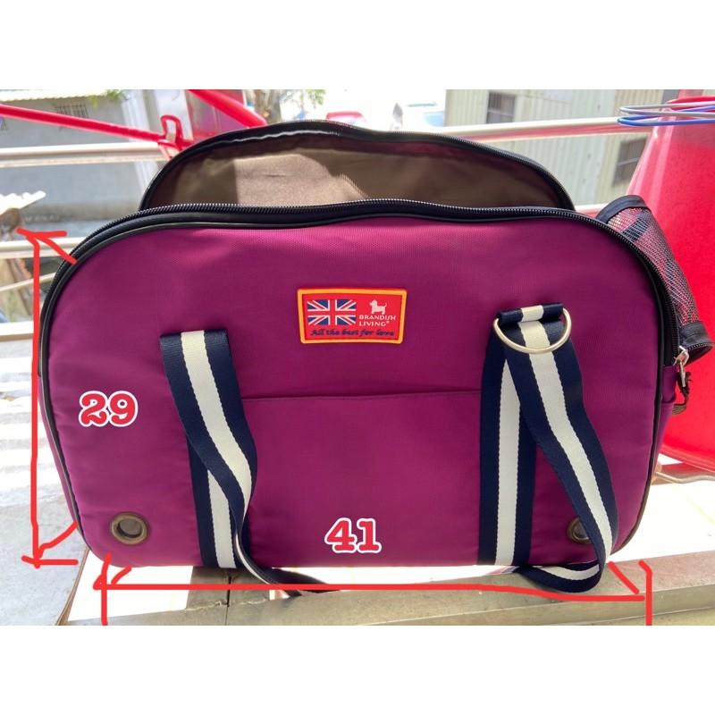 二手寵物深紫粉斜背包