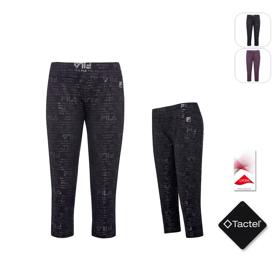 【FILA】女性 針織七分褲-黑色 5PNT-5604-BK