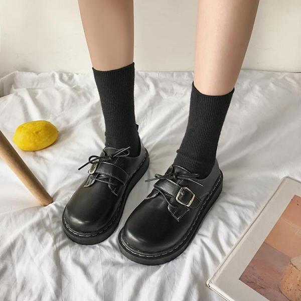 小皮鞋女英倫風2020新款秋日系大頭鞋原宿風復古女學生jk百搭皮鞋  【端午節特惠】