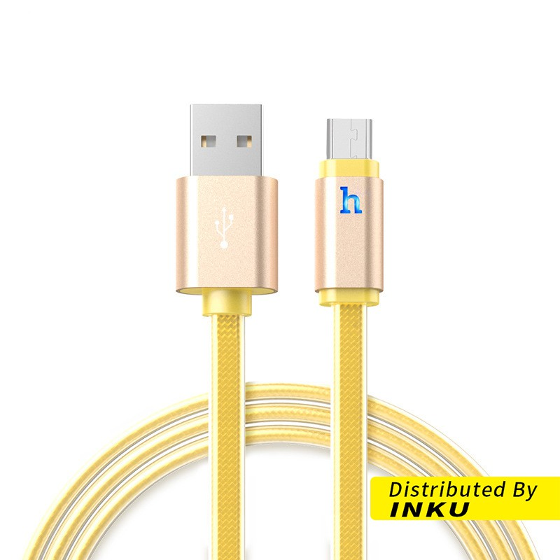 HOCO 原廠正品 UPM12 PLUS 傳輸線 micro usb 高速充電 安卓 呼吸燈 充電線 智能斷電[現貨]