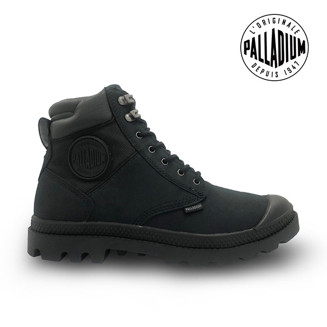 PALLADIUM PAMPA SHIELD WP+ LUX皮革防水靴-中性-黑
