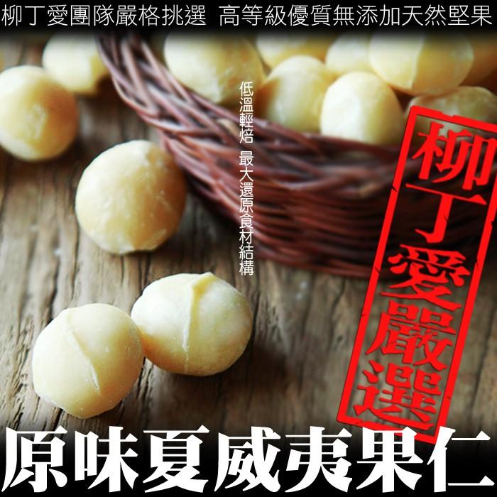 柳丁愛 夏威夷果仁100G自然烘焙 無加糖鹽油【A388】