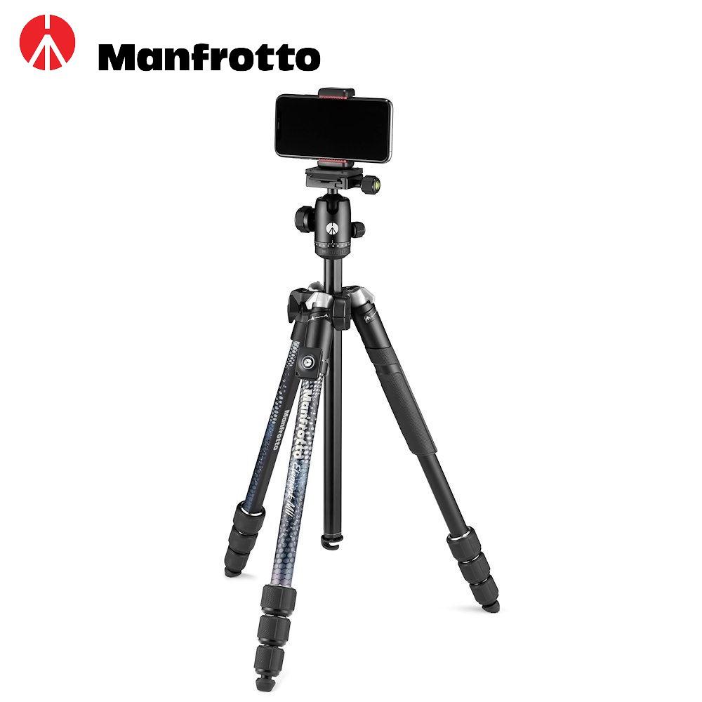 Manfrotto 曼富圖 Element MII 2代 鋁合金 三脚架 (含手機夾) 黑 MKELMII4BMB-BH