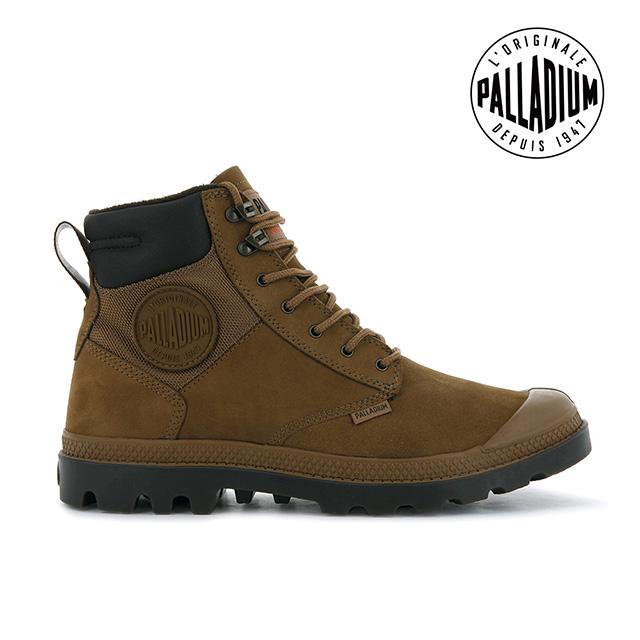 PALLADIUM PAMPA SHIELD WP+ LUX皮革防水靴-中性-深棕