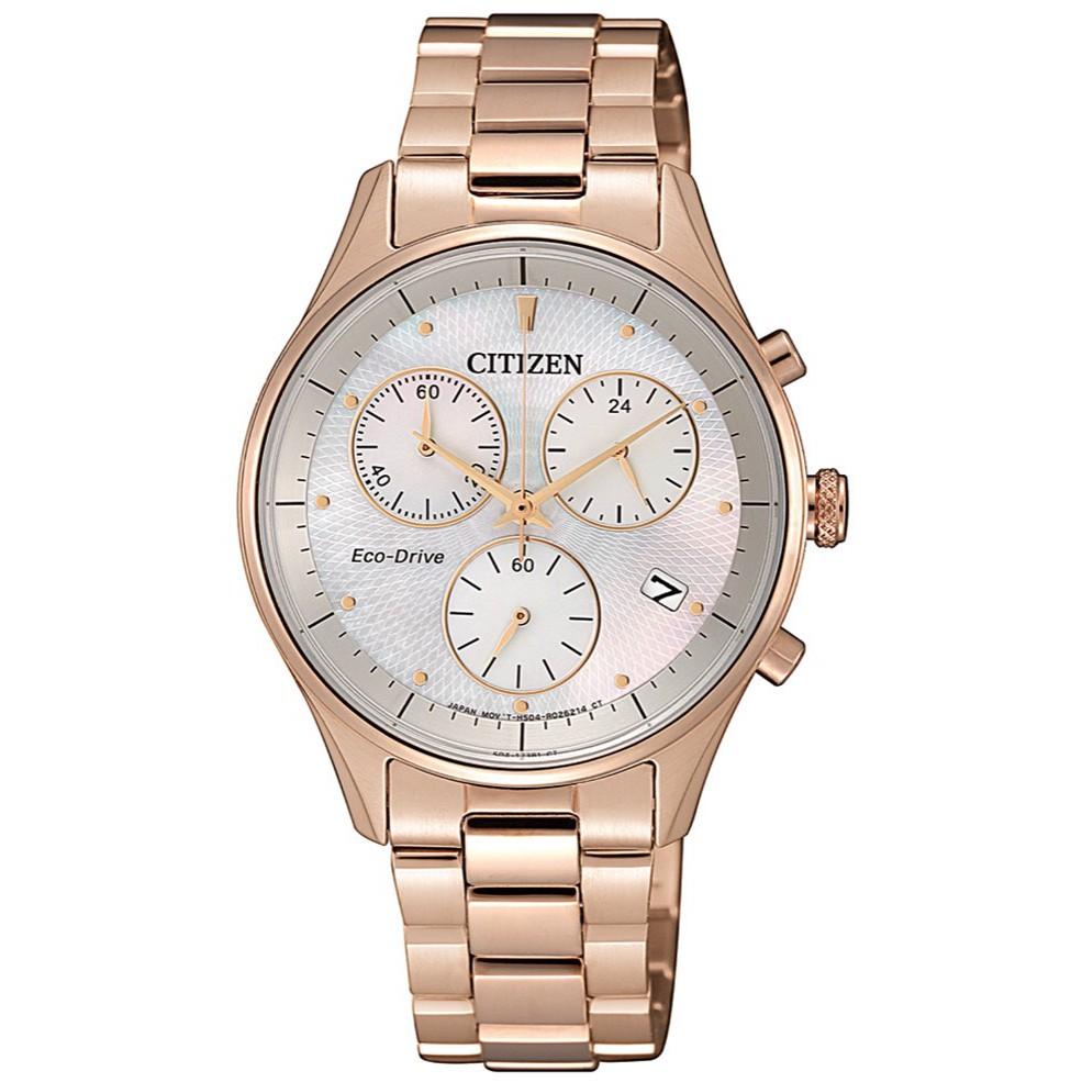 CITIZEN LADY'S系列 不鏽鋼光能石英錶(FB1442-86D) {葳葳的精品}
