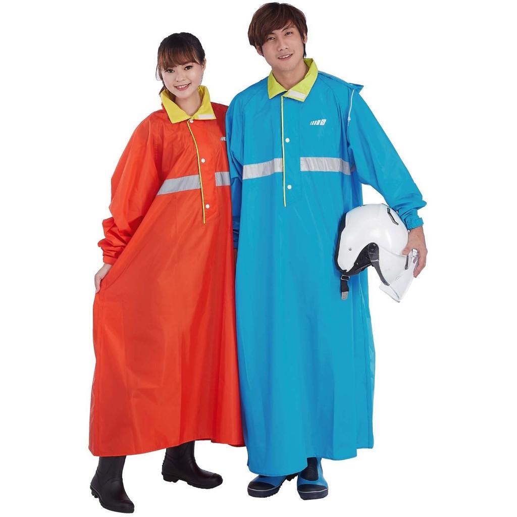 三和牌半開尼龍太空雨衣 黃/橘/藍 XXL-4XL 透氣 反光條 直接穿脫 隱藏式雨帽【佳瑪】