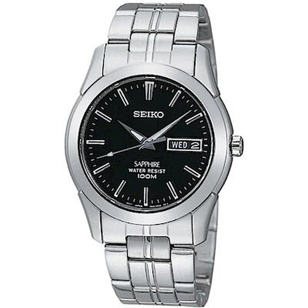 SEIKO精工 7N43-0AR0D(SGG715J1) 經典藍寶石水晶鏡面鋼帶錶 紳士黑 35mm 廠商直送