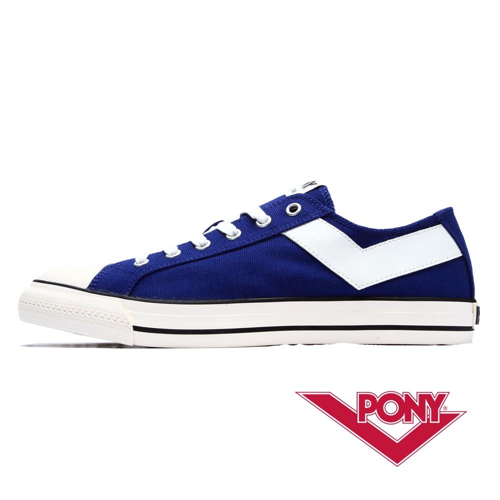 PONY Shooter系列百搭復古低筒帆布鞋-女款 海藍