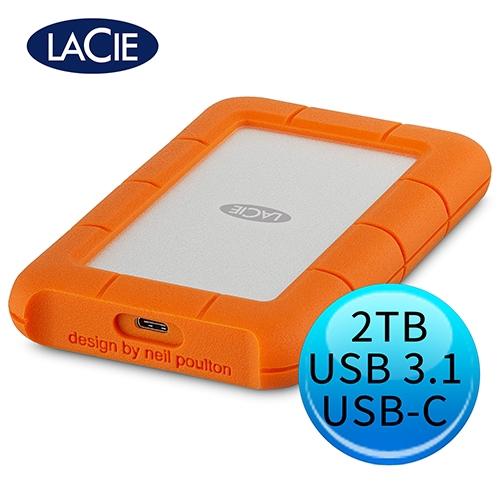 LACIE Rugged 2TB USB3.1 Type-C 2.5吋 外接硬碟 STFR2000800