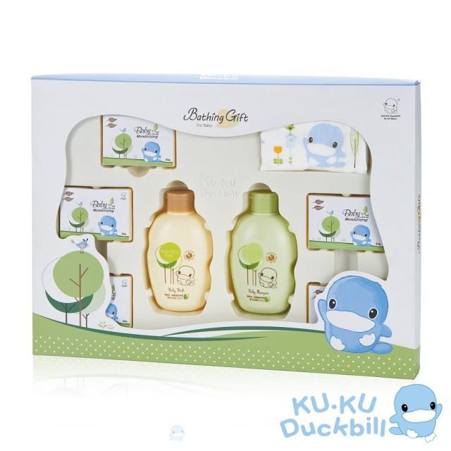 【KU.KU. 酷咕鴨】酪梨燕麥沐浴禮盒(八件組)