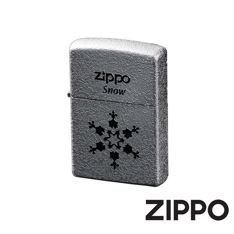 ZIPPO 冬季戀歌-雪花獨秀防風打火機 韓國設計 ZA-1-6