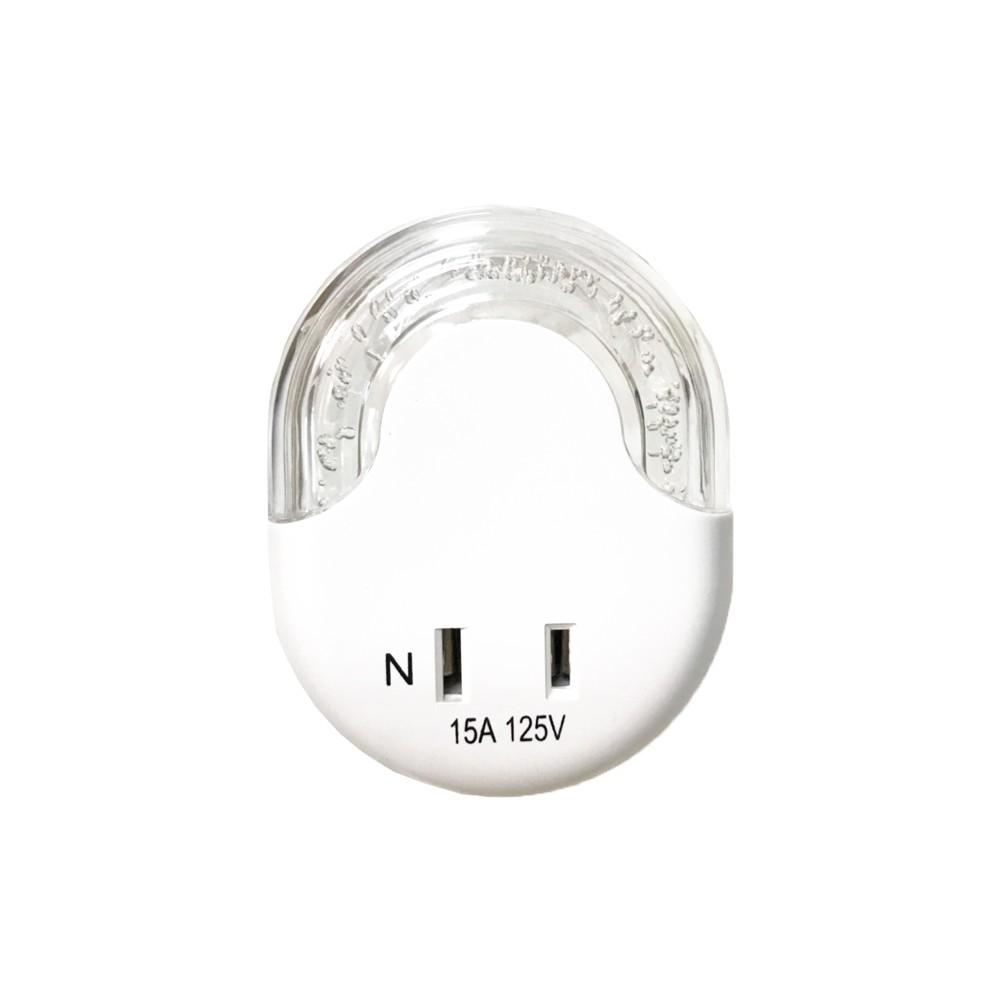 Mayka 明家 LED光控自動感應小夜燈附插座 琥珀色光(GN-110)