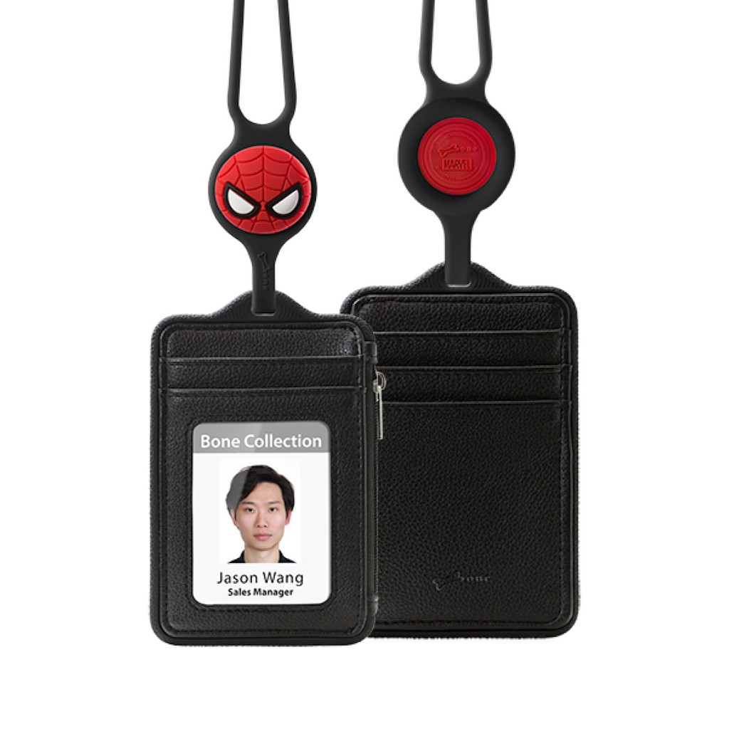 【BONE】頸掛識別證 漫威/蜘蛛人皮革款
