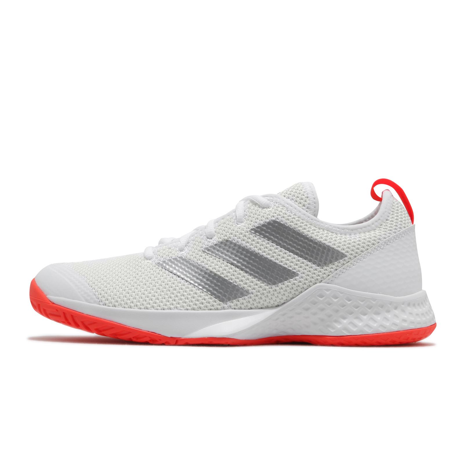 adidas 網球鞋 Court Control M 白 銀 橘 愛迪達 運動鞋 男鞋 【ACS】 FX7472