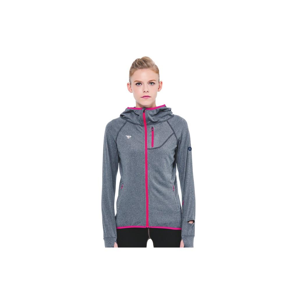 【SUPERACE】咖啡紗內刷毛保暖層跑步外套/女款