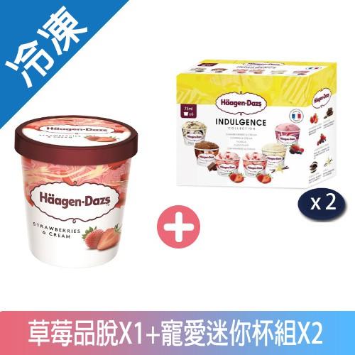 哈根達斯草莓寵愛迷你杯暢銷組【愛買冷凍】