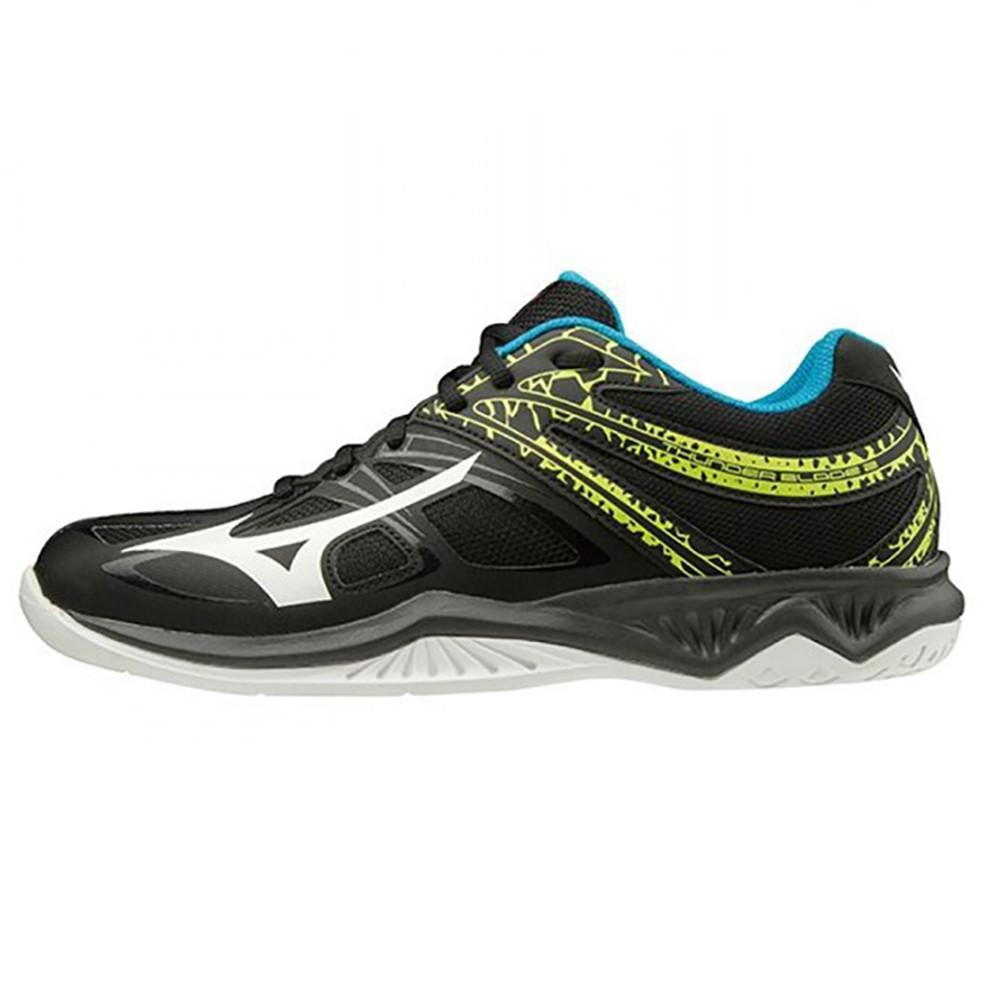 MIZUNO THUNDER BLADE 2 男鞋 女鞋 排球 輕量 2.5E寬楦 黑藍【運動世界】V1GA197045
