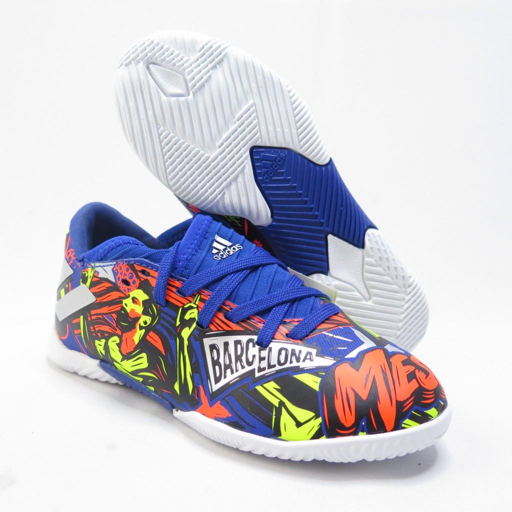 Adidas NEMEZIZ MESSI 1 中大童款 足球鞋 EH0600 藍色塗鴉【iSport愛運動】