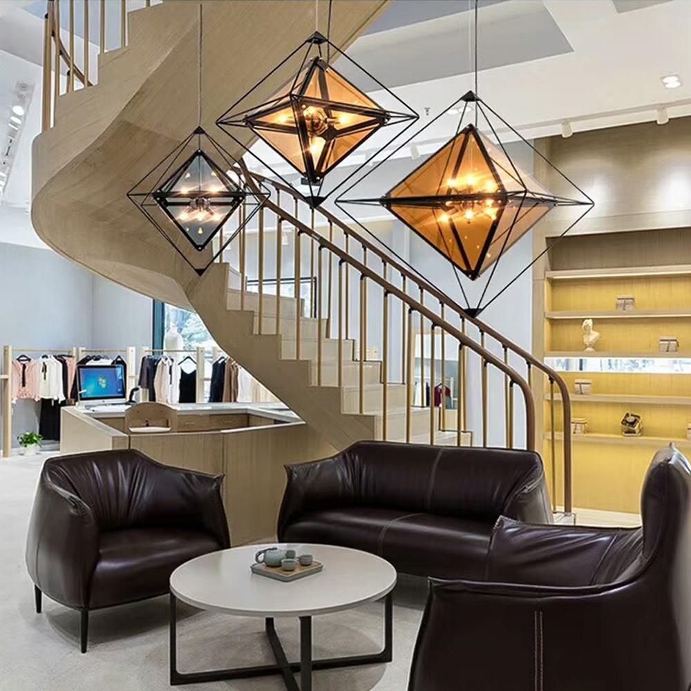 H&R安室家 小號56CM玻璃立方吊燈
