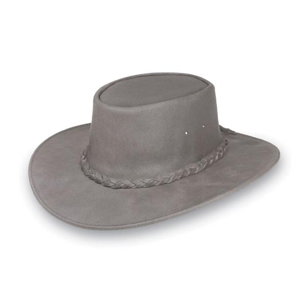 "Minnetonka ""Fold Up"" Hat - Leather Australian Hat"