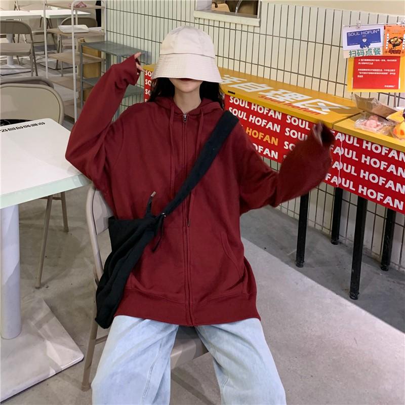 棒球服外套 185675春秋新款港味慵懶風男友風寬鬆連帽外套