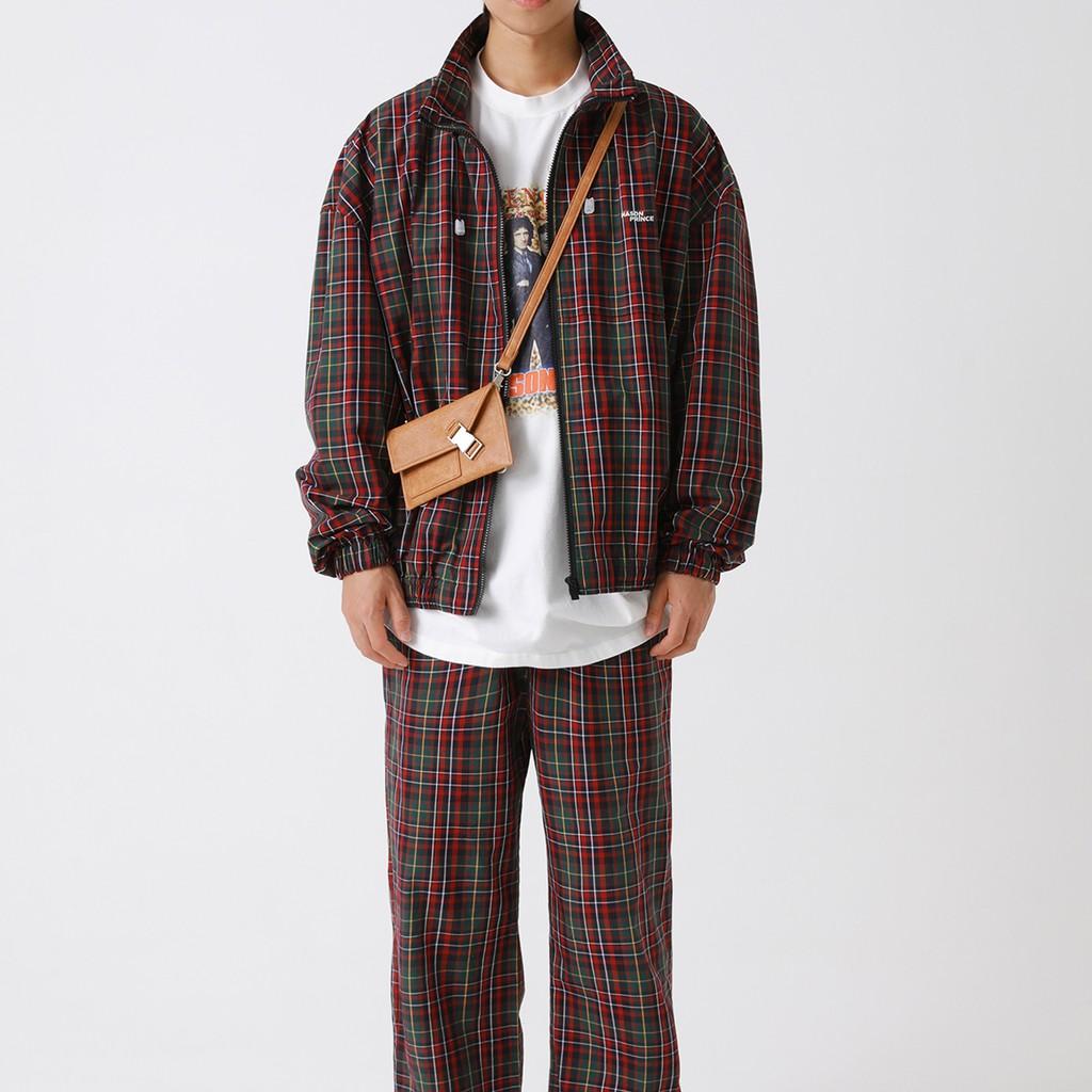 【FADE.MEET】格紋風衣外套 0921