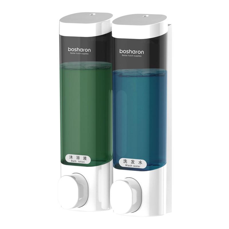 皂液器 免打孔皂液器 壁掛式酒店賓館浴室衛生間沐浴露盒子家用皂液盒雙掛