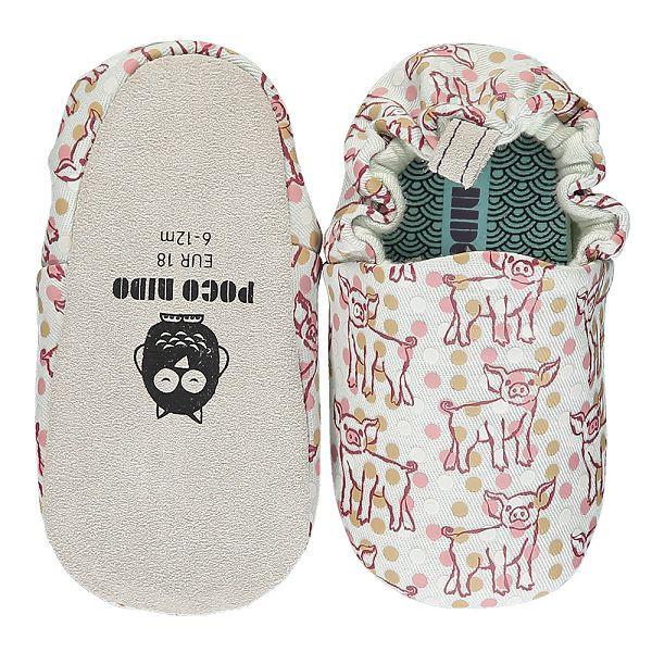 英國POCONIDO 手工鞋|嬰兒鞋|學步鞋-小豬寶寶-淺灰(6~24M)【麗兒采家】