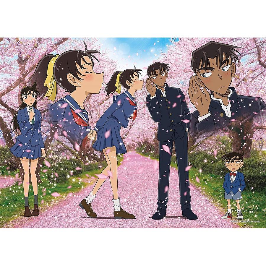 Epoch 平次與和葉 櫻花的季節 500P 拼圖總動員 名偵探柯南 日本進口拼圖