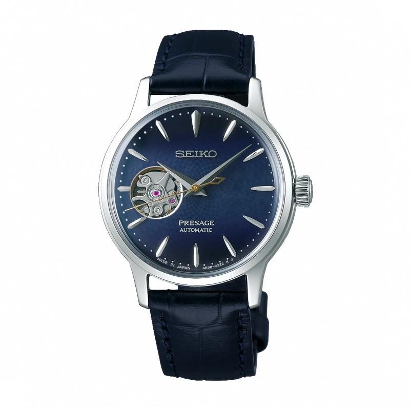 SEIKO 精工 Presage 調酒師藍月 機械錶 4R38-01Y0B (SSA785J1) 女錶