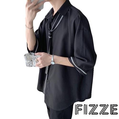 韓版寬鬆襯衫 時尚簡約休閒百搭個性防風男裝(LRSJ117)【FIZZE】