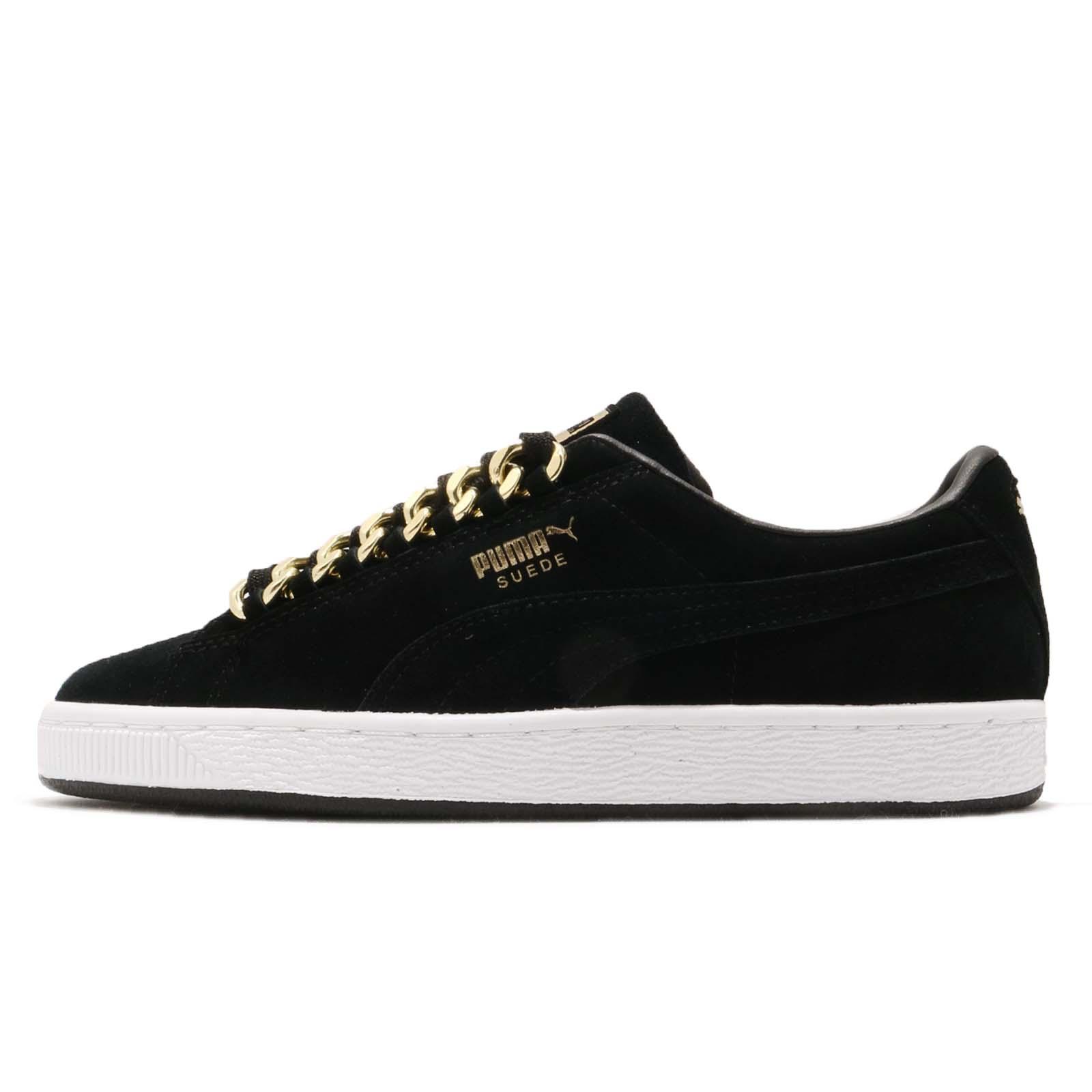 Puma 休閒鞋 Suede Classic x Chain 黑 金 男鞋 麂皮 金標 【ACS】 36739103