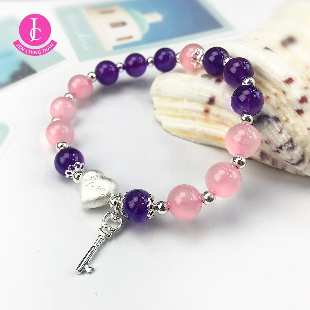 【振晶店】紫粉水晶手珠