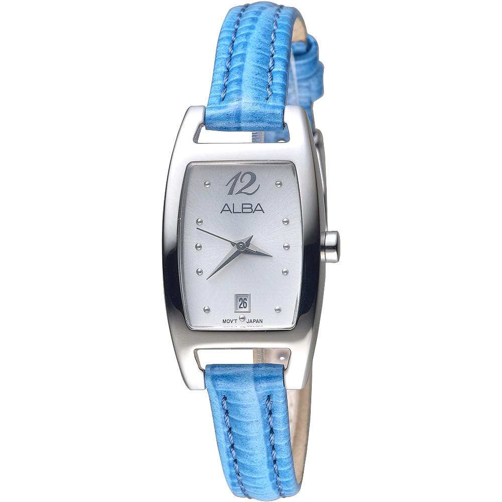 ALBA雅柏手錶 AH7K39X1 純粹經典藍色錶帶女錶 廠商直送 現貨