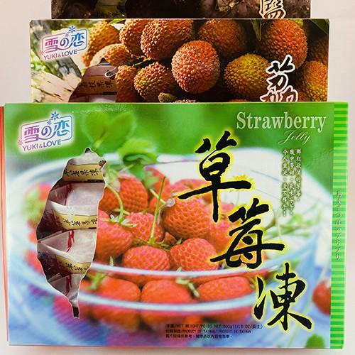 嘗甜頭 附發票 草莓凍 藍莓凍 水蜜桃凍 500公克 雪之戀 三叔公 Yuki love 伴手禮 台灣名產 素食
