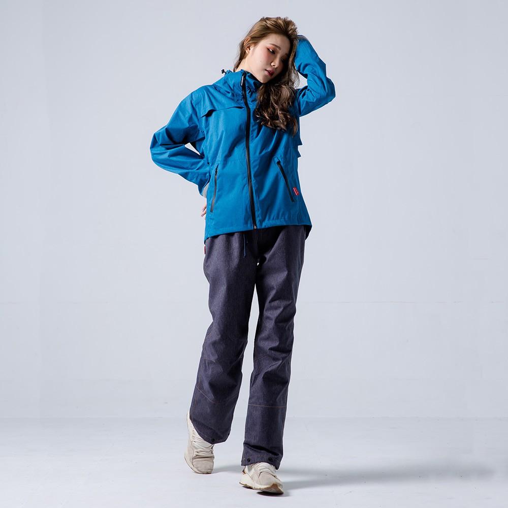 BrightDay 背MAX外套兩件式雨衣(搭配防水牛仔褲) 藍 兩件式雨衣 雨衣《比帽王》