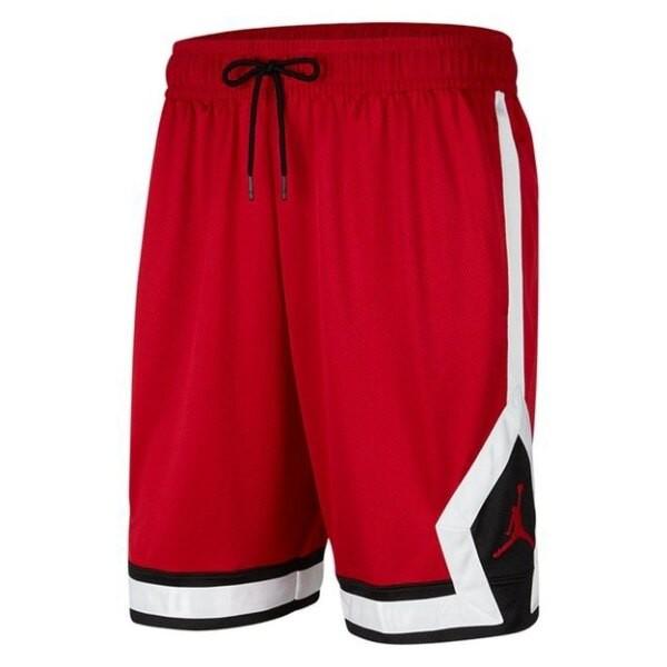 NIKE Jordan Jumpman Diamond男裝 短褲 籃球 喬丹 紅 白 黑【運動世界】CV6023-687