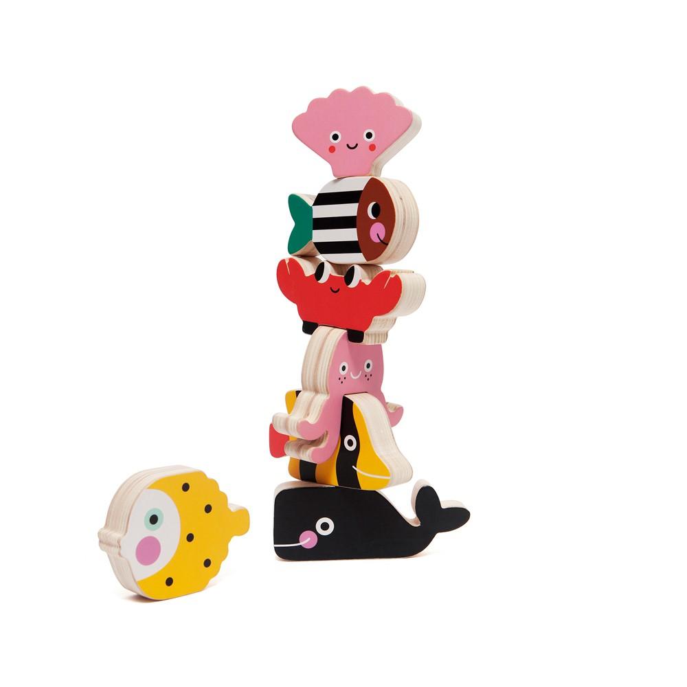 荷蘭Petit Monkey經典木玩-海洋動物疊疊樂(3Y+)