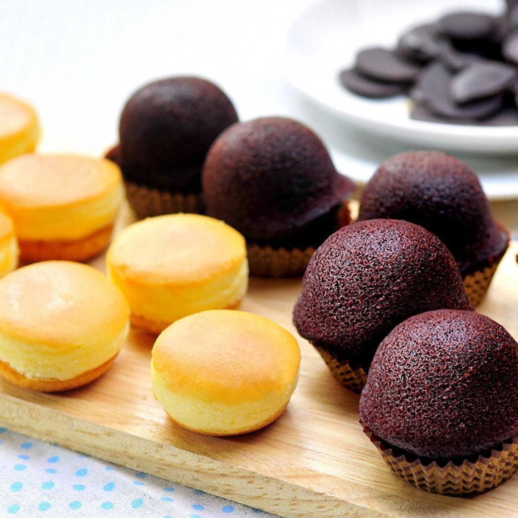 【杏芳食品】原味乳酪球一盒(12入方形禮盒)+巧克力布朗尼一盒(12入方形禮盒)