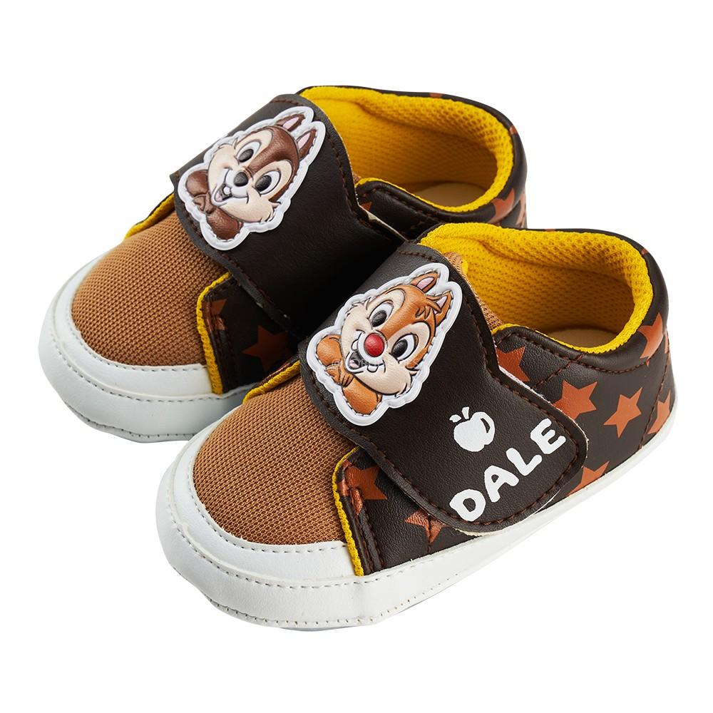 迪士尼童鞋 奇奇蒂蒂 造型休閒小童學步鞋-咖