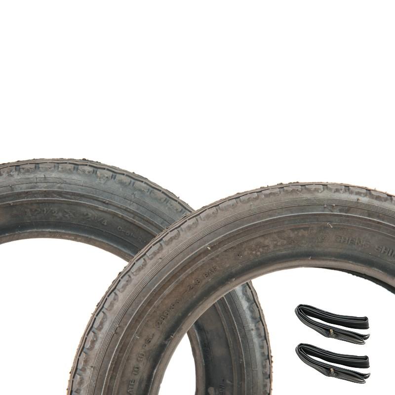 (正新 12 1/2 x 2 1/4 一車份 2外+2內)12吋童車外胎12-1/2*2-1/4輪胎 兒童車腳踏車